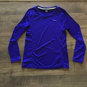 HIND Long Sleeve Stretch Athleisure Shirt Top M